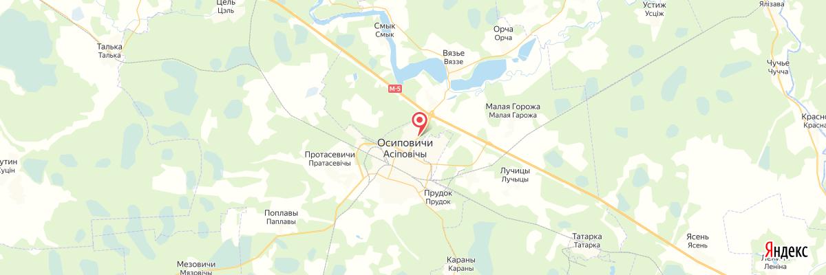 карта Осиповичи