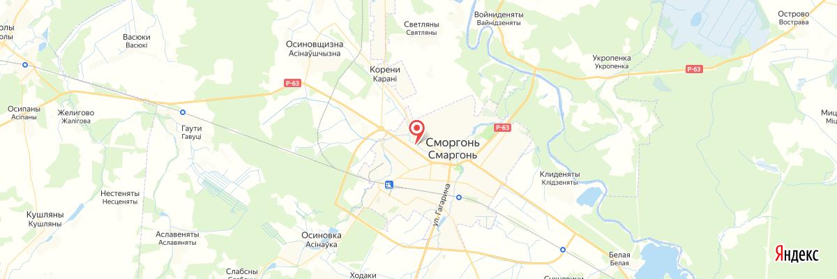 карта Сморгонь