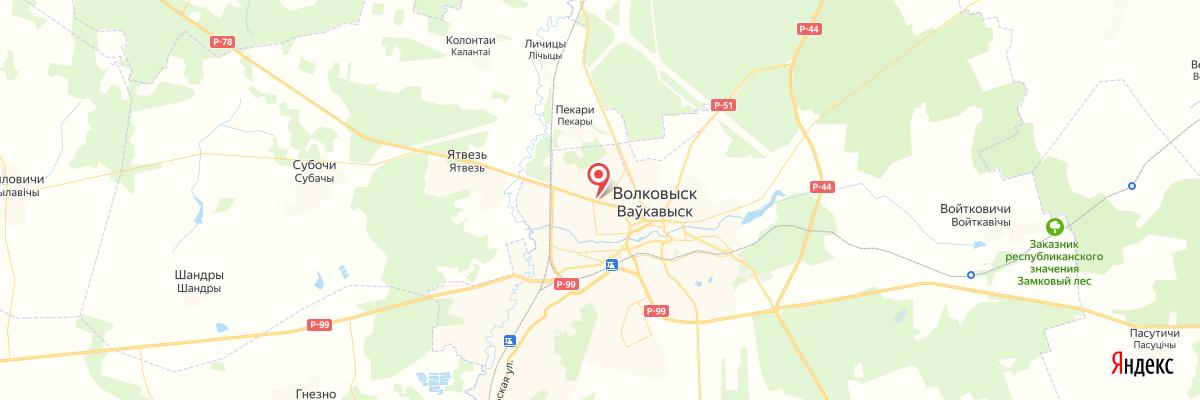карта Волковыск